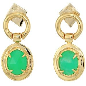 🆕Alexis Bittar Swinging Chrysoprase Jade Earrings